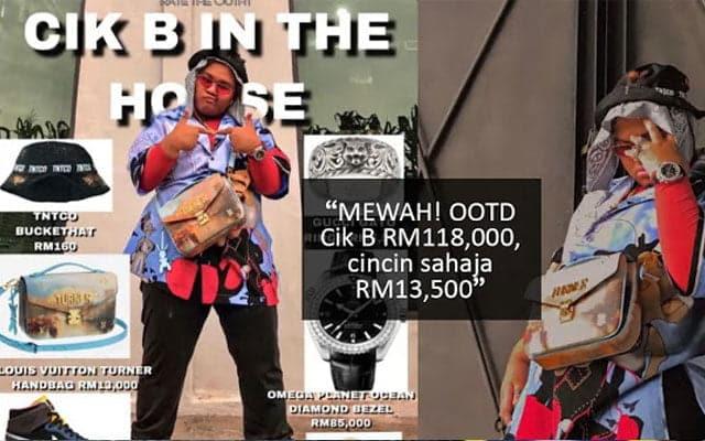 Mak Datuk !!! Outfit Cik B RM118,000, cincin sahaja RM13,500