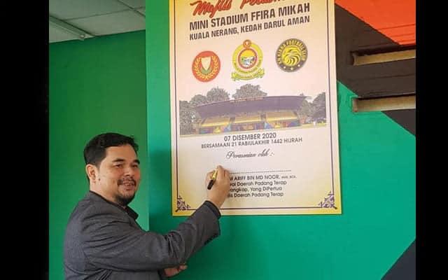 """Panas !!! Netizen tegur nama stadium """"FFIRA MIKAH"""" yang baru dirasmikan di Kedah"""