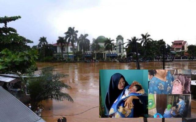 Dinamakan Banjiriah kerana lahir atas perahu ketika banjir