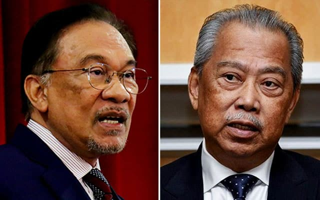Hilang majoriti : Muhyiddin perlu letak jawatan bukannya isytihar darurat – Anwar