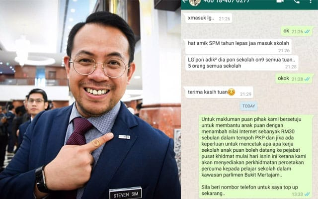 MP Bukit Mertajam buka kaunter untuk pelajar cetak kerja sekolah secara percuma