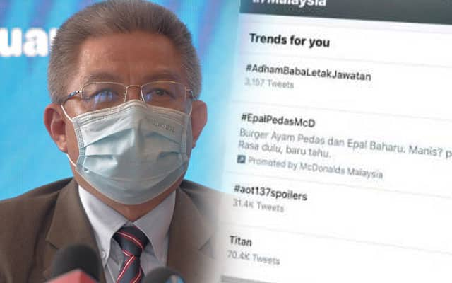 Hashtag minta menteri letak jawatan tiba-tiba trending di Twitter