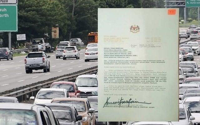 """Pasangan """"kantoi"""" dengan polis guna surat Istana Negara palsu untuk rentas negeri"""