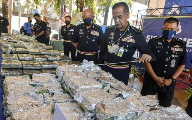 Wow !!! Ganja, syabu berjumlah RM4.6 juta dirampas di Kelantan
