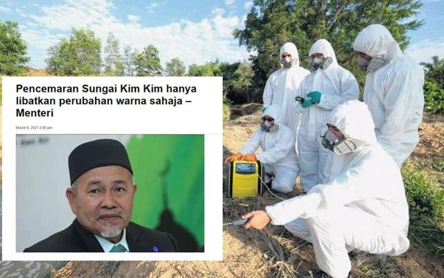 Sungai Kim Kim didapati beracun