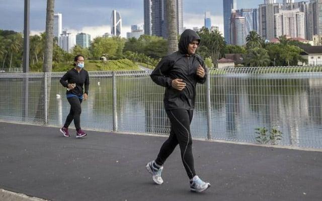 Jogging bersendirian dibenarkan sehingga 8 malam