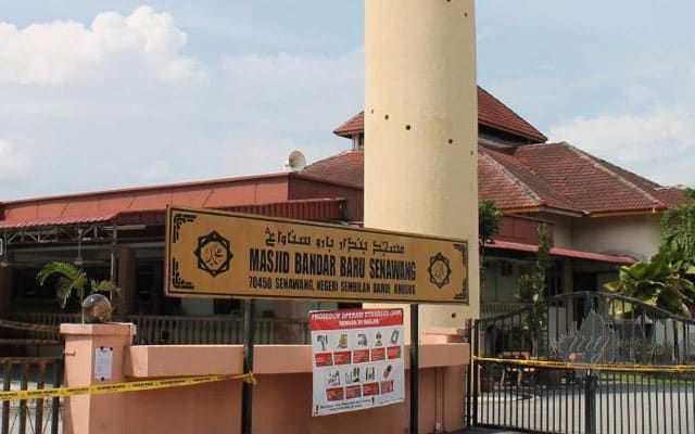 Pegawai positif Covid-19, Masjid kariah Bandar Baru Senawang ditutup seminggu