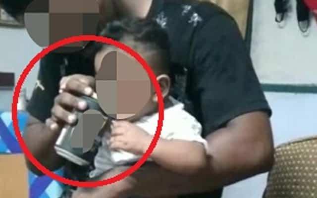 Tular video beri bayi minum arak, bapa direman lima hari