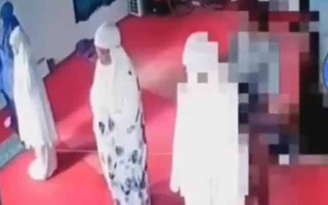 CCTV surau berjaya rakam aksi tak senonoh lelaki terhadap 2 jemaah wanita