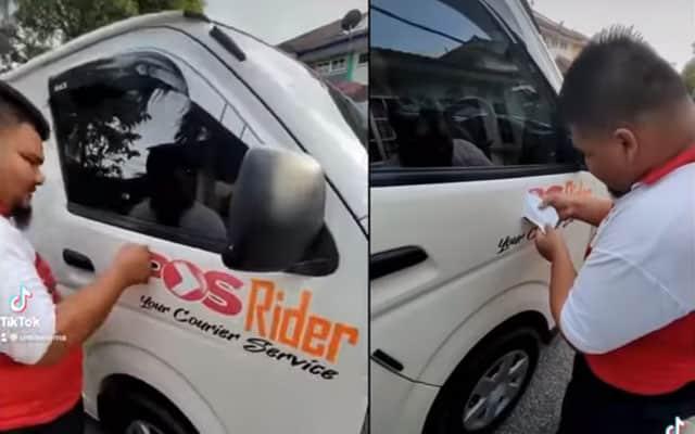 Panas !!! [Video] Kontrak 100 penghantar barangan Poslaju ditamatkan 1 Julai