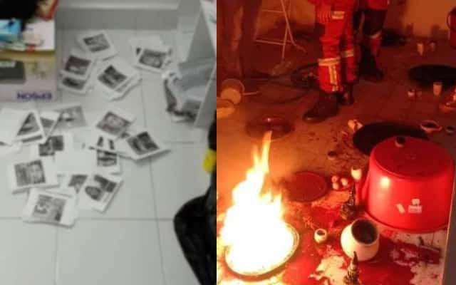 Kantoi !!! Jiran lapor rumah terbakar , rupanya bomoh sedang amal ritual sihir pemisah