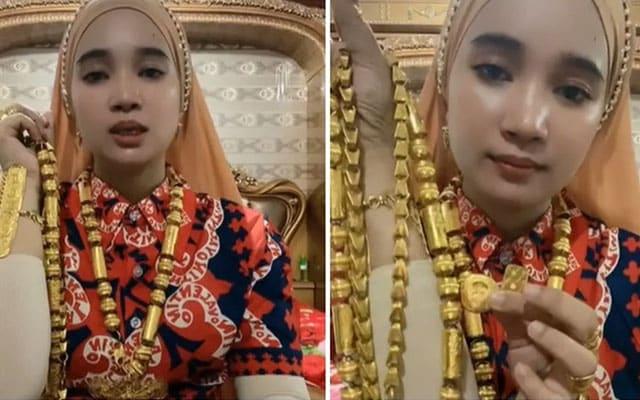 Tunjuk koleksi emas di TikTok, disangka dapat pujian rupanya dapat kecaman netizen