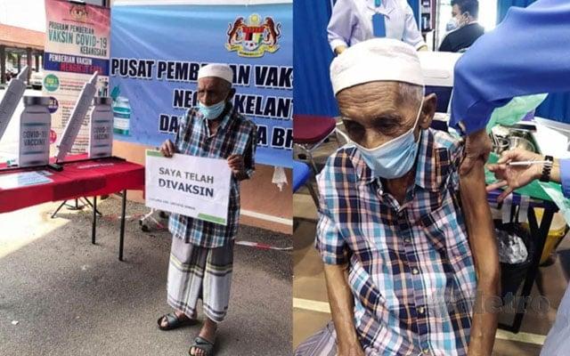 """Pakat gi cocok vaksin belaka, senang nak gi smaye jemaah"", pesan lelaki 105 tahun ini"