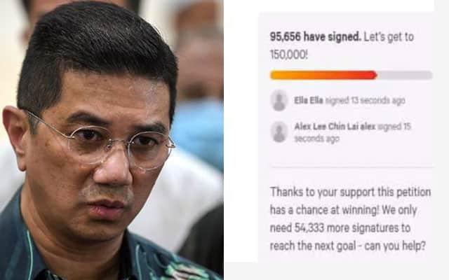 Panas !!! Tak sampai 24 jam, hampir 100,000 sertai petisyen minta Azmin letak jawatan