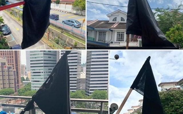 Kempen bendera hitam trending di media sosial