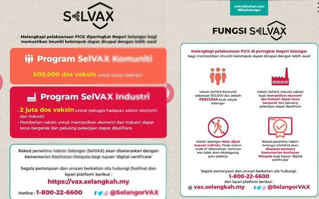 Apa perlunya Selangor buat SelVAX? Ini penjelasannya