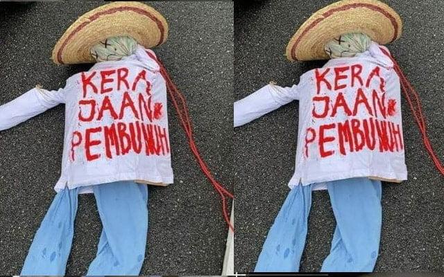 Gempar !!! Patung 'kerajaan pembunuh' gegarkan warga Melaka