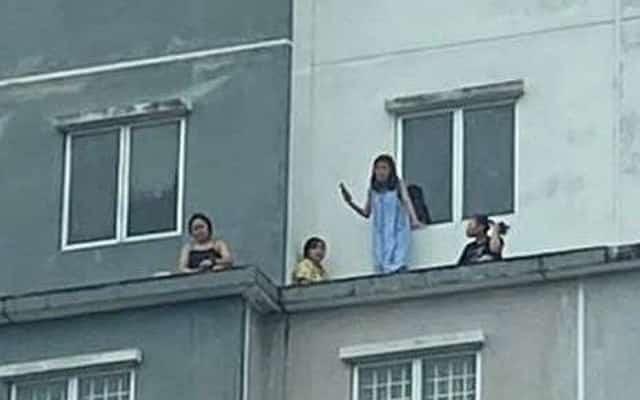 Cemas !!! Ingatkan nak 'bunuh diri' rupanya hanya bersantai di tingkat 6