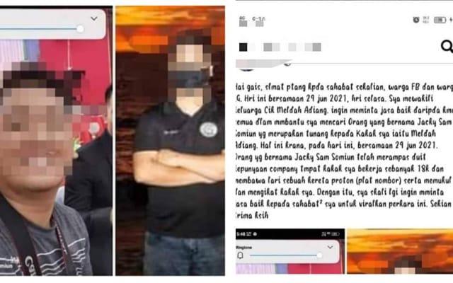 Belasah tunang dan larikan duit RM10 ribu, lelaki diburu