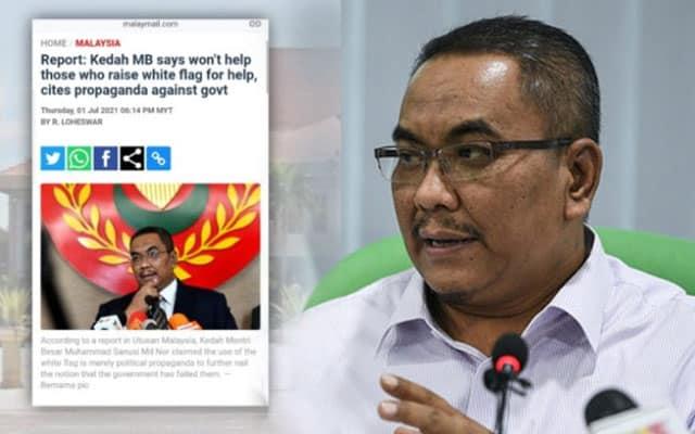 Tajuk Malay Mail mengelirukan, kata Pejabat MB Kedah