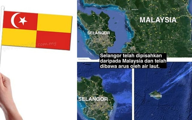 Netizen hanyutkan 'pulau' Selangor hingga ke Itali