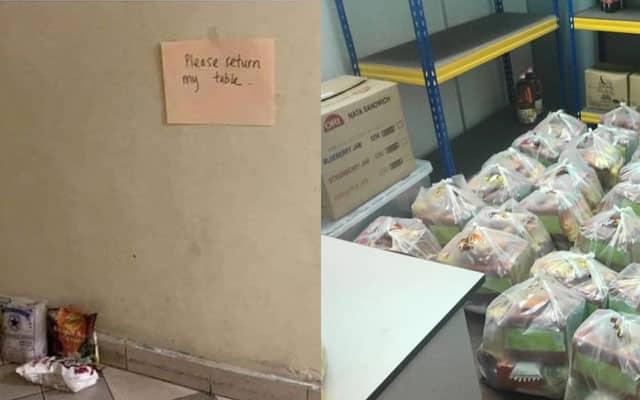 Food bank : Bukan kata makanan habis, meja pun kena rembat
